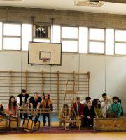 Gli attori del Liceo Classico durante una prova