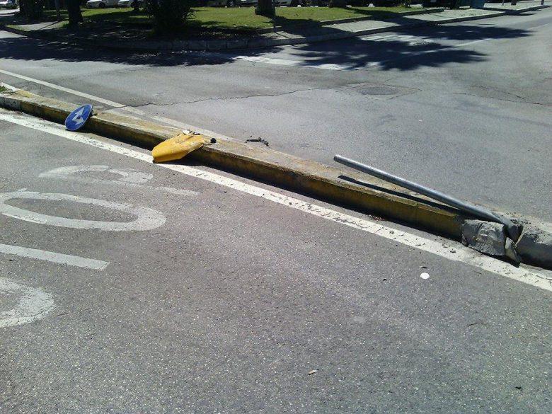 Danneggiata la segnaletica stradale, 15 giugno