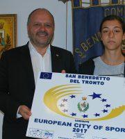 Emma Silvestri con il sindaco Gaspari