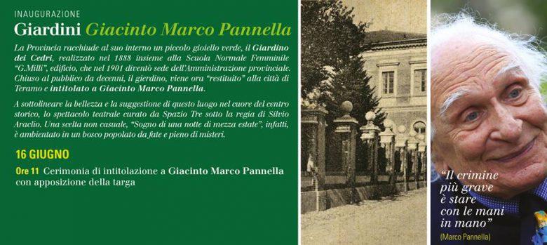Intitolazione a Giacinto Marco Pannella (foto Provincia di Teramo)