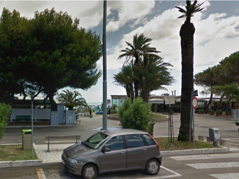 Lungomare della Repubblica, Grottammare (foto tratta da Google Maps)