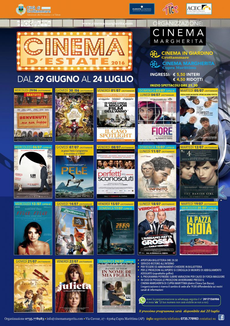 Cinema d'Estate 2016