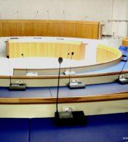 L'aula consiliare dove il 9 luglio si terrà il primo Consiglio dell'era Piunti
