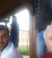 Diomede e Fedeli ieri in tribuna ad Amatrice
