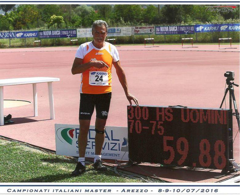 Francesco Bruni sigla il nuovo record italiano mm75 nei 30o hs