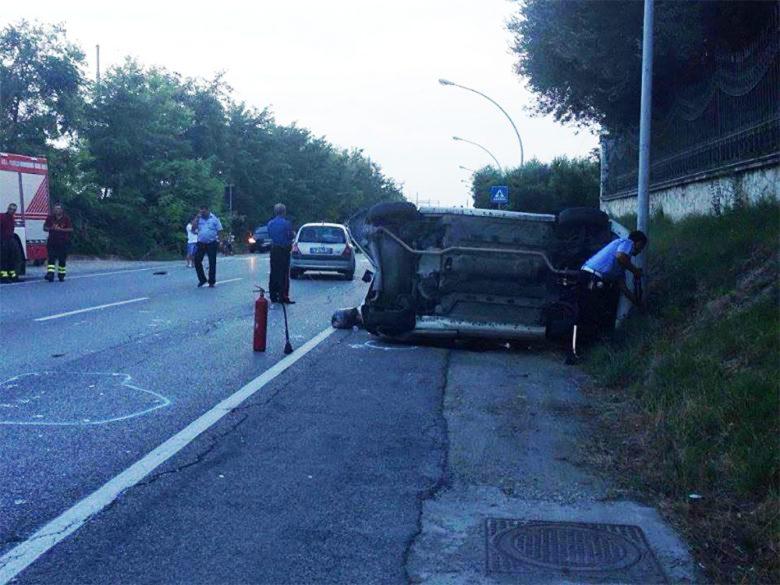 Incidente a Cupra sulla Statale 16, 26 luglio (foto di Gian Marco Marconi)