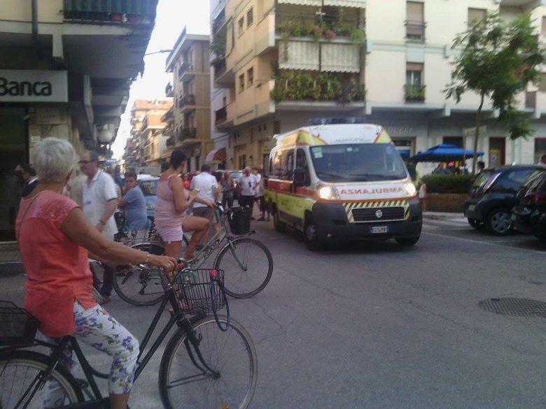 Soccorsi in piazza Carducci, 13 luglio