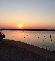 L'alba dal porto di Martinsicuro