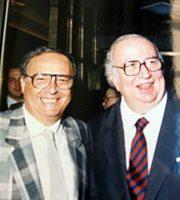 Umberto Poliandri con Giovanni Spadolini