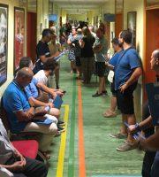 sambenedettesi in fila nel centro trasfusionale dell'ospedale