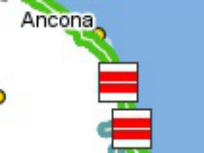 Disagi sull'A14 (foto tratta dal sito Autostrade per l'Italia, ore 13.40)