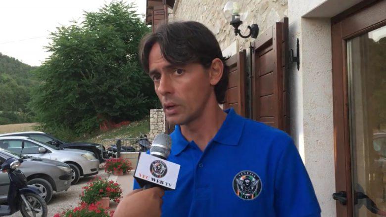 Pippo Inzaghi ai microfoni di Venezia Fc Web Tv dopo l'amichevole contro la Samb (foto tratta dalla pagina Fb Venezia Fc)