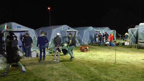 Terremoto Amatrice, campo di accoglienza di Grisciano, foto Protezione Civile di Martinsicuro