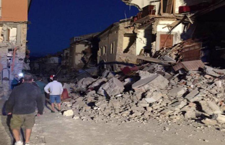 Terremoto ad Amatrice foto Facebook