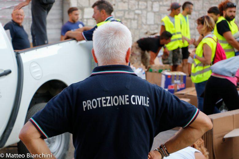 Arquata, la protezione civile in azione