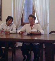 Piergallini e Iacchetti in conferenza, 12 agosto
