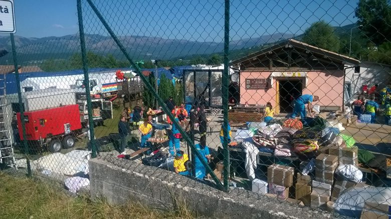 Beni raccolti a San Benedetto arrivati nei luoghi colpiti dal sisma