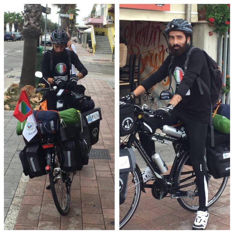 Cristiano Ciriaco andrà in bici da Martinsicuro fino in Grecia