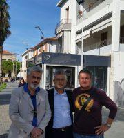 Sandro Ventresca, il sindaco Camaione e il sovrintendente della questura Ciarrocchi