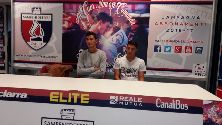 Damonte in conferenza stampa, al suo fianco Di Pasquale