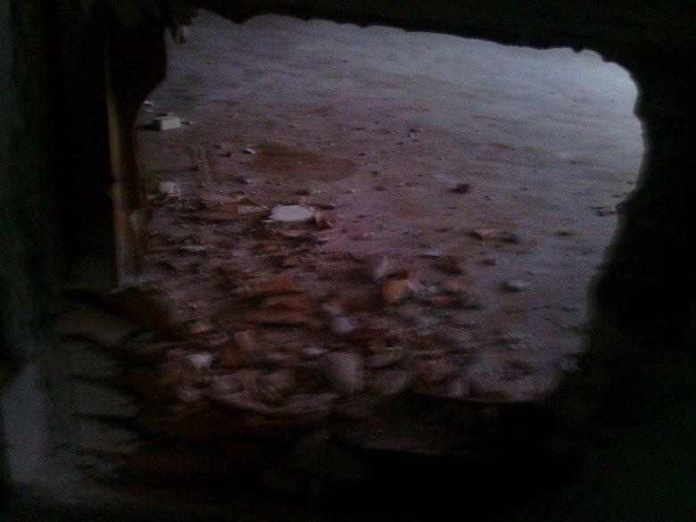Il buco causato dai ladri per il furto, 7 settembre