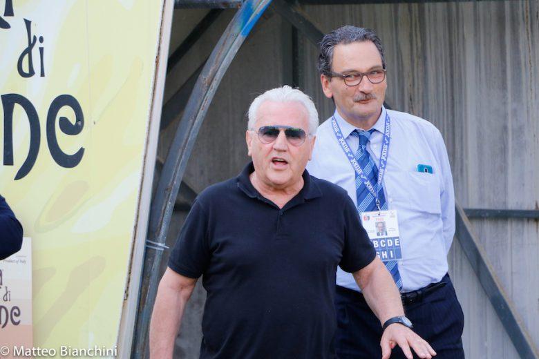 Samb-Mantova 1-3, Franco Fedeli e il segretario Palma