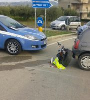 Fuga con incidente (foto Questura di Teramo)