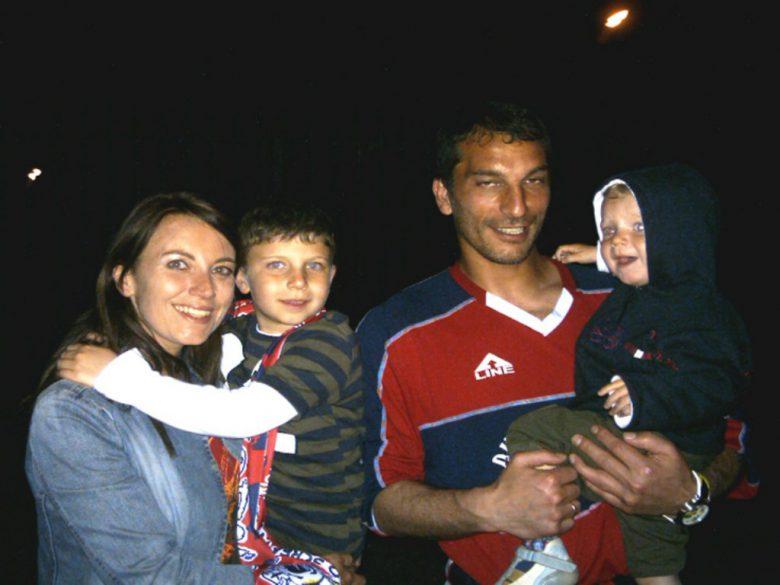Franco Mancini alla Samb, insieme alla sua famiglia