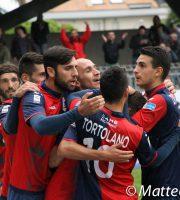 Samb-Padova 2-0, esultanza  del 2-0