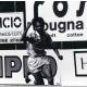 Inzaghi esulta con la maglia del Leffe nel campionato 92-93