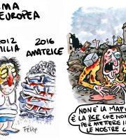 Non è la Mafia, Charlie! È la Bce che non ci dà i soldi, stupidi! (Dalle vignette originali di Charlie Hebdo, riveduta e corretta)