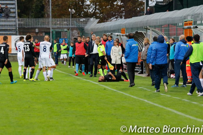 Venezia-Samb 2-2, fasi concitate del match
