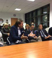 Capriotti, Giorgini, il presidente D'Erasmo e gli assessori Traini e Assenti all'assemblea di quartiere