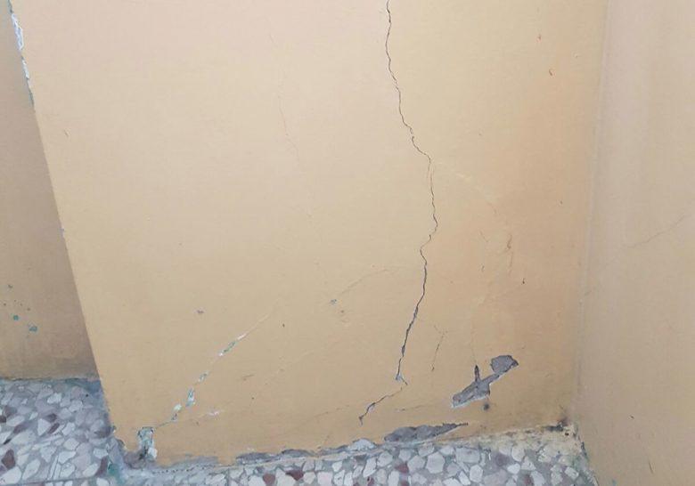 Lesione muro scuola cupra