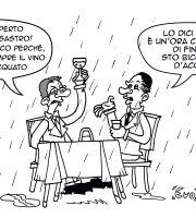 Gabrielli, Olivieri e i dehors (vignetta Evo)