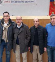 Conferena stampa dell'Udc con il Consiglere Domenico Pellei (il terzo da sinistra) e il nuovo coordinatore comunale Fabrizio Capriotti (il secondo da sinistra)