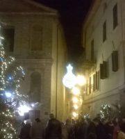 Luminarie natalizie al Paese Alto di Grottammare