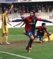Samb-Modena 1-1, esulta Mancuso