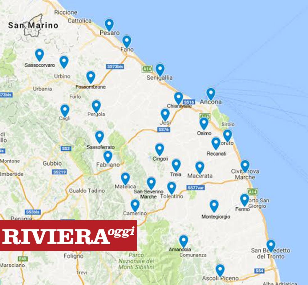 Regione Marche Cartina Politica.Date Questa Mappa A Ceriscioli Per Favore Marche 31 Ospedali Piceno 2 Riviera Oggi