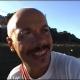 Diego Bianchi sulla pista ciclabile di Cupra