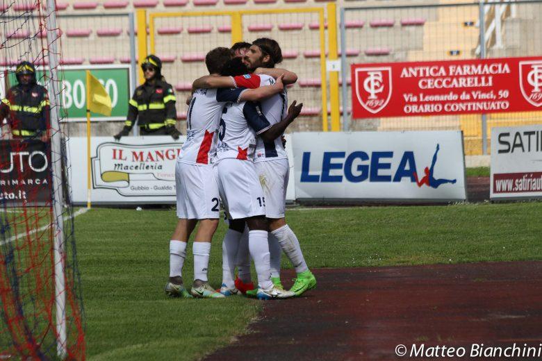 Gubbio play off amari, vince la Samb: 2-3