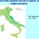 La mappa che mostra l'elevata concentrazione di amianto nella nostra Regione
