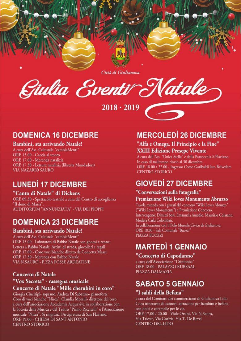 Eventi Di Natale.Giulia Eventi Natale Iniziative A Giulianova Dal 16
