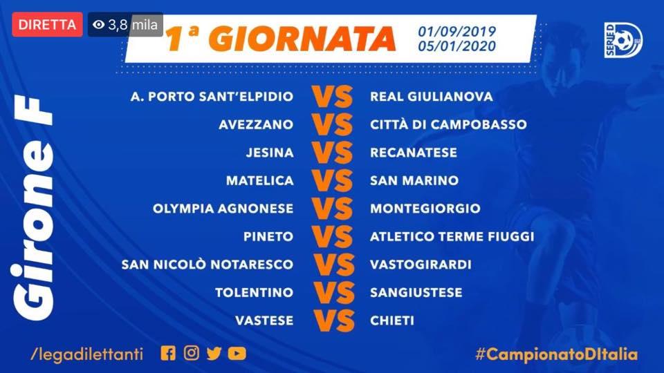 Calendario Eccellenza Pugliese.Serie D I Calendari Girone F Matelica Ospitera San Marino