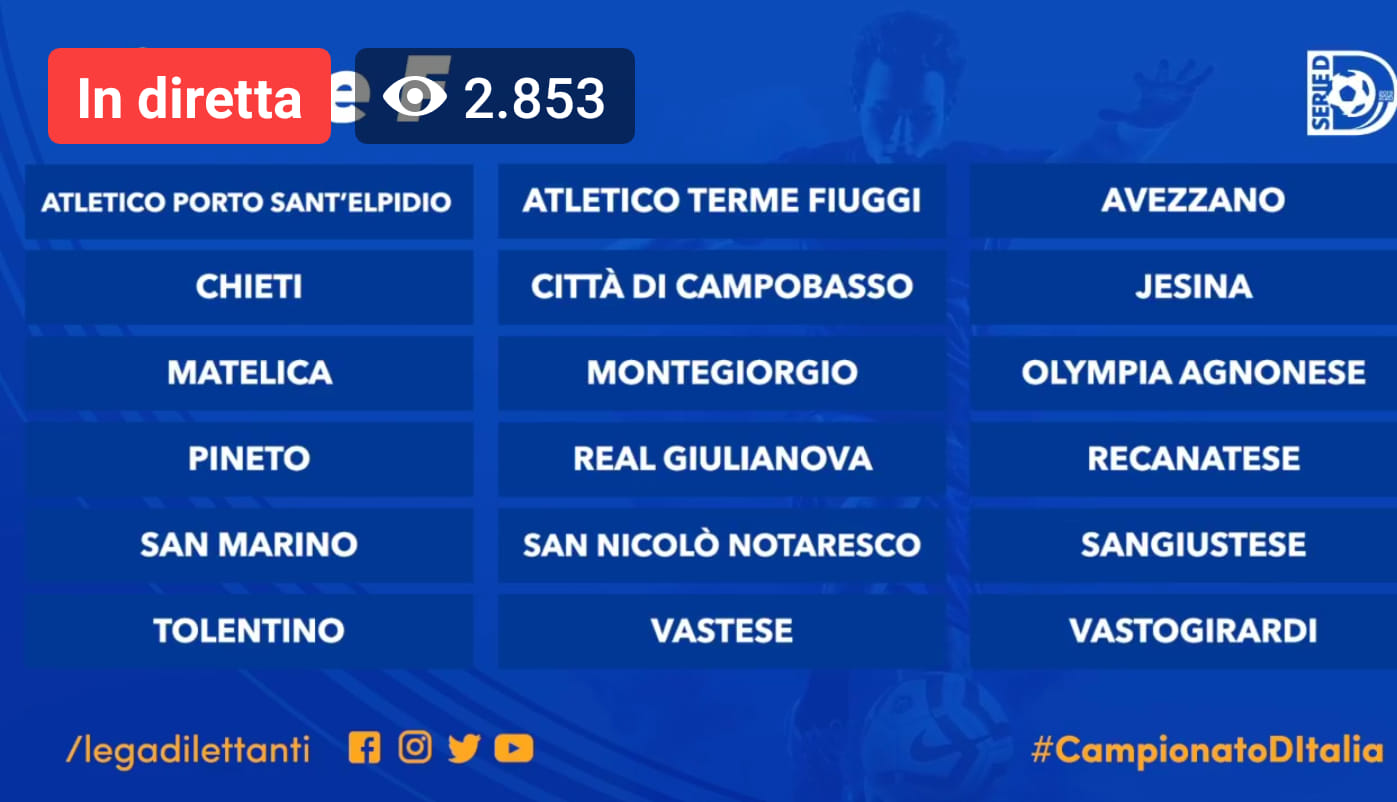 Serie D Girone D Calendario.Serie D Ecco I Gironi Le 7 Squadre Marchigiane Inserite In