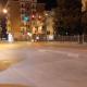 Via Togliatti ore 21 del 14 marzo, il semaforo segnala il rosso ma non ci sono automobili da fermare