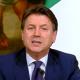 Giuseppe Conte durante la conferenza stampa di presentazione della Fase 2