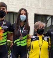 Alessio Clementoni, Edda Paluzzi, la Presidente della società Elena Pompetti e Giosuè Neve