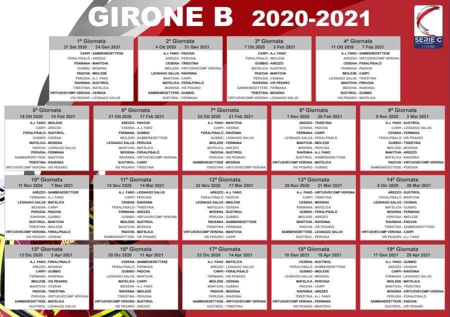 Calendario Girone B: Samb esordirà a Carpi, poi Gubbio in casa