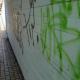 Sottopasso via Alighieri a Grottammare, tag e scritte sul muro